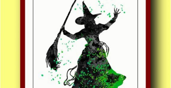 Wizard Of Oz Wall Murals Wicked Witch Poster Watercolor Poster Disney Wizard Of Oz Poster