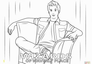 Wizards Of Waverly Place Coloring Pages Justin From Wizards Of Waverly Place Coloring Page