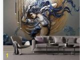Wonder Woman Wall Mural Custom Mural Wallpaper for Walls 3d Stereoscopic Embossed Fashion Art Beauty Bedroom Tv Background Home Wall Decoration Painting