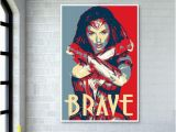 Wonder Woman Wall Mural Wonder Woman Brave Giant Poster