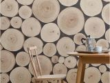 Wood Effect Wall Mural Chopped Beech Log Wall Mural Muralswallpaper