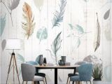 Wood Effect Wall Mural Custom Size Floral Wallpaper Mural Wall Decor ㎡