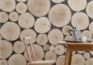 Wood Effect Wall Murals Chopped Beech Log Wall Mural Muralswallpaper