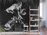 Wood Look Wall Mural Ice Hockey Goalie Wall Mural