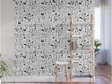 Wood Wall Mural Decal Stick and Poke Tattoo Wall Mural by Mailboxdisco