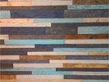 Wooden Planks Wall Mural Multi Colored and Distressed Plank Wall