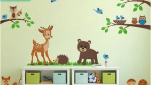 Woodland Animal Wall Mural forest Animals Wall Decal tops Woodland Critters Children
