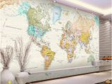 World atlas Wall Mural Custom 3d Room Wallpaper Mural Colorful World Map 3d Picture Mural Modern Art Creative Living Room Hotel Study Backdrop Wallpaper Free High