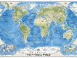 World Executive Wall Map Mural Craenen National Geographic Flat Maps