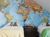 World Map Wall Mural Decal Trending the Best World Map Murals and Map Wallpapers