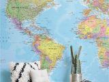 World Map Wall Mural Wallpaper Wall Murals & Wallpaper Murals Wallpaper