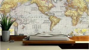 World Map Wall Mural Wallpaper World Map Wall Decal Wallpaper World Map Old Map Wall