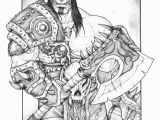 World Of Warcraft Coloring Pages Grom Hellscream From Warcraft D Warlords Of Art Of
