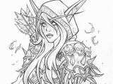 World Of Warcraft Coloring Pages Kal Dorei Sylvanas Windrunner