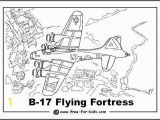 World War 2 Coloring Pages B17 Flying fortress