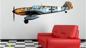 World War 2 Wall Murals World War 2 Airplane Messerschmidt Bf 109 Wall Decal Vinyl