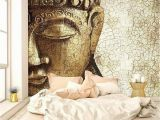 World Wide Wall Murals Vintage Buddha Self Adhesive Wall Mural