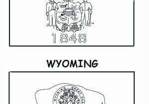 Wyoming Flag Coloring Page Georgia Flag Coloring Page