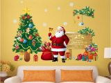 Xmas Wall Murals Us $2 75 Off Christmas Tree Wall Stickers Santa Claus Gifts Sitting Room Bedroom Decoration Mural Art Decals In Wall Stickers From Home & Garden