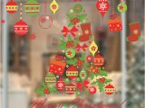 Xmas Wall Murals Us $3 6 Off Merry Christmas Festival Decor Wall Stickers Living Room Decoration Home Window Glass Decals Diy Xmas Tree Mural Art Poster In Wall