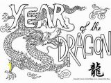 Year Of the Dragon Coloring Page Dragon Colouring Pages