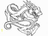 Year Of the Dragon Coloring Page Drawn Chinese Dragon Coloring Page Pencil and In Color Drawn