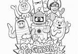 Yo Gabba Gabba Coloring Pages Free Yo Gabba Gabba Printables Coloring Home