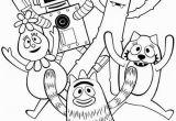 Yo Gabba Gabba Coloring Pages Yo Gabba Gabba Show for Kids Coloring Page Coloring Sun Di