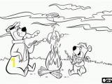Yogi Bear Coloring Pages Printable Bears Like Camping