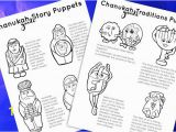 Yom Kippur Coloring Pages Hanukkah Puppets Printable Pdf Color In Coloring Pages Puppets for Chanukah Story and Traditions