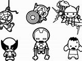 Young Marvel Coloring Pages Avengers Baby Chibi Characters Coloring Page