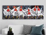 Zebra Print Wall Murals 2019 Vrolijk Schilderij Wall Art Canvas Happy Chicken Painting