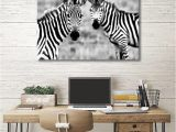 Zebra Print Wall Murals Highland Cow Prints Posters Wall Art for Living Room Bedroom