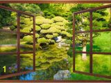 Zen Garden Wall Mural Wall Mural Window Self Adhesive Zen Garden Window View 3 Sizes Available Perfect T