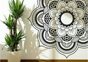 Zentangle Wall Mural Black White Mandala Wall Art Wall Decor Inspiration