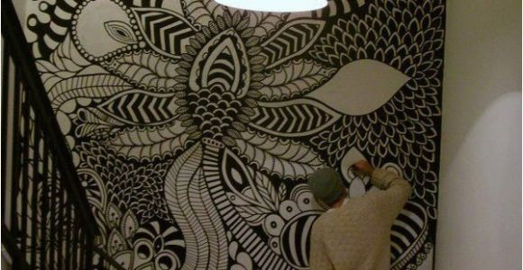Zentangle Wall Mural Marianopadilla Mural Wall Painting Uni Posca On 19m² Wall