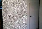 Zentangle Wall Mural Pin by Sarjoo Shah On Furniture