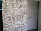 Zentangle Wall Mural Pin by Sarjoo Shah On Furniture
