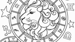 Zodiac Signs Coloring Pages Leo Zodiac Sign Coloring Page