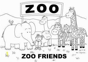 Zoo Animal Coloring Pages for Preschool Free Zoo Coloring Page with Images
